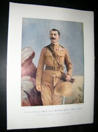Lieut-Gen Sir H.M.L Rundle 1900 Military Portrait Print. Boer War